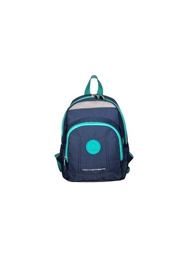 012 Benetton Okul Çantası Gri